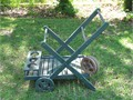 Garden Cart - Hand Made - Painted Green - 3 Extra Wheels -  22 W x33 L Height 30Stored Inside 70