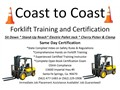 Coast to Coast Forklift Training in Santa Fe Springs offersForklift Training and OSHA Certif