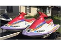 TWO 2 JET SKIS a pair 1996 POLARIS 780SL  TRAILER Ready to go GREAT FUN for a little They b