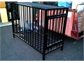 Horizontal cage Welded all-steel constructionsquare framing - round barshigh gloss black scuff