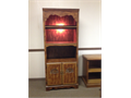 Lighted BookcaseCabinet  Beautiful cherry wood finish with adjustable shelving for display of book
