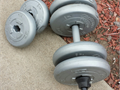 WEIGHTS CHALLENGER  DUMBELLS ORBATRON  set  6500    Good Condition  includes as in photo 4-88LB