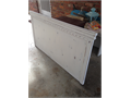 Queen Size White Distressed Headboard Wall Mount Headboard comes ready to hang