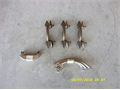 New stainless and bronze leaf cabinet handles 6 pairs 15all 909-983-7427