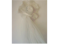 White Bridal Hat Veil has long veil  25 plus shippin if shipped email - thriftysaverhotmail