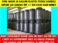 We sell plastic food grade open top barrels with removable screw on lids The black barrels hold 60