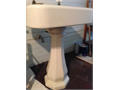Antique pedestal sink cast iron refinished in off-white faucets not included 25000 pmlee803gma