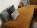 Velvet sectional sofa good condition  easy to wash cushion covers