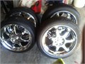 17 chrome wheelstires 655 OBO  NO TEXTlike new