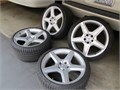 Mercedes AMG 19 Rims with Tires 275x302  245x352  Low mileage on both Good condition 9250