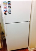 Refrigerator with built in Ice maker Color WhiteDimensions 65 x 30 x30 inches