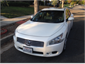2009 Nissan Maxima SV White Beige Leather Interior  Excellent condition 74K miles SunroofMoonr