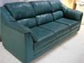 Green Leather CouchThe Leather FactoryIn Fair Condition3535 San Gabriel River ParkwayInd