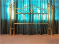 Queen bed brass headboard 4 upright columns Very Good Condition 25000 803-279-6653
