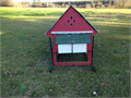 Chicken Tractor- 12 long-With 2 nest Outside egg boxes Roost pole and inside house-well made Pre