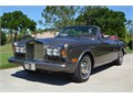 1985 Rolls-Royce Corniche convertible Gray over burgundy leather with a black everflex convertible