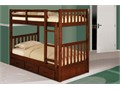 Twin over twin solid wood sturdy bunk beds with three drawer under chest or twin trundle  New who