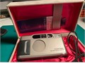 Contax T2 D 35mm Point  Shoot Film Camera w Case in excellent conditions The battery cap looks a