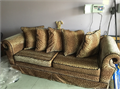 Leopard print sofa for sale Great condition Comes with matching pillows 100 626-869-6846