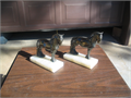 2 bronze horse book ends marble base 6 tall 6 deep 2 12 wide 4500 909797-4300