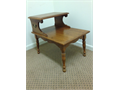 Maple EndLamp Table with Solid Brass Fixtures  Solid Wood  Sturdy Built  Good Condition  Down-s