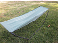 Portable Hammock 7 long x 27 wide and 24 off of the ground steel frame and heavy canvas materia