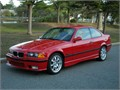 1995 BMW M3 Coupe Mugello Red with Black interior 13175 miles 5 speed manual gearbox Factory sp