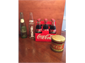 Collectible Bottles - 6 Coca Cola 1 Dr Pepper 1 Mr Pibb And 1 Coke Tin Coke bottles include 5 Da