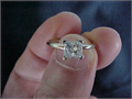 14K white gold solitaire ring with a 75 carat princess cut diamond Clarity is VS2 and color is F