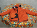 JACKET Boys size L6 Protection System Brand excellent condition has a hood and matching beanie