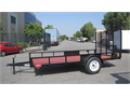 2016 New Trend 65x12 Single Utility trailer Standard FeaturesSingle 3500lb Spring AxlesNo