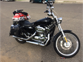 2004 Harley- Davidson Sportster XL1200C Custom Black  Chrome Excellent condition tires in good c