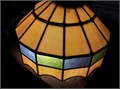 Rare Leaded Glass ChandelierComes with support chain  wiringMay need slight repair 500 OBO