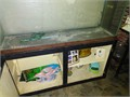 55 gallon fish aquarium with stand for 10000 obo Stand is missing a cabinet and shelf