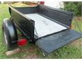 Ford Model A truck bed trailer Black 56 L x 41 W x 13 D New Lights tilt bed 15 wheels Hitc