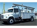 C7 Cat Diesel Allison Automatic AC Dakota Truck Body Crane with Remote PTO Air Compressor Wo