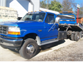 1997 Ford Super Duty Rollbacktilt bed excellent cond low miles manual trans gas motor 1850000 81