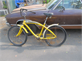 BIKE  YELLOW  COLOR  NEED SOME WORK FLAT TIRE  JUMBO SIZE TIRE ASKING PRICE --25---  NORTH HOLLY