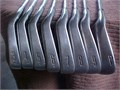 LEFT-HANDED Titleist DCI Oversize  irons 3-PW in playable cond  Heads grooves  leading edges in