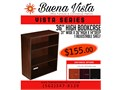 Dark Mocha Warm Cherry and Rich Mahogany laminate bookcases commercial quality 14 deep two size