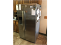 Kenmore  approximately 26 cubic feet side by side stainless refrigerator with ice maker ice dispens