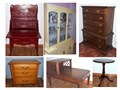 Carson estate  Beds dressers kitchen hutch display  filing cabinets tables crystal queen ann