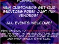 Need help planning an event We are offering our services free of charge Just pay for the vendo