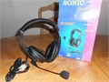 Sonic HP259 Stereo Headset with Microphone-10Excellent condition-no scratches or stainExcelle