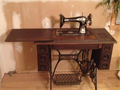 Singer Treadle Machine Model 66-1 - FAMOUS RED EYE MODEL - COLLECTORS ITEM - Works Great - Copied Ma