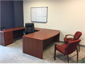 Instant executive office furniture-Beautiful large cherry desk 79 x110 with executive chair and