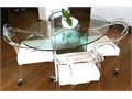 1000 Set excellent condition oval glass dinning table top 42 X 62 approximately MUST SELL FOR 10