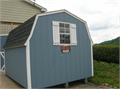 storage building by Shawnee barn design 8 X 10  double door 5wX6h with rampeasy access for pick