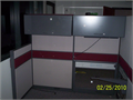 Office Cubicles W File Cabinets Overhead Steel Cabinets Lights Formica Tops A U-Haul load You