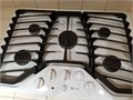 GE profile white 5 burner 30 inch buil in gas cooktop in excellent condition